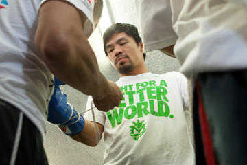 Manny Pacquiao Manny Pacquiao Open Workout