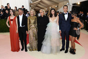 "(L-R) Lily Collins, Pierpaolo Piccioli, Rachel McAdams, Maria Grazia Chiuri, Lorde, Miles Teller, and Zoe Kravitz attend the ""Manus x Machina: Fashion In An Age Of Technology"" Costume Institute Gala at Metropolitan Museum of Art on May 2, 2016 in New York City."