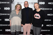 """(L-R) Sheila Nevins, Randy Barbato and Fenton Bailey attend """"Mapplethorpe: Look At The Pictures"""" New York Premiere at Time Warner Center on March 22, 2016 in New York City."""