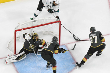 Marc-Andre Fleury Shea Theodore San Jose Sharks v Vegas Golden Knights - Game Six