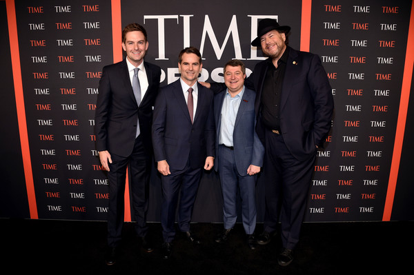 TIME Person Of The Year Celebration - Arrivals [suit,premiere,event,font,formal wear,tuxedo,guest,jeff gordon,marc benioff,edward felsenthal,time person of the year celebration - arrivals,new york city,capitale]