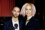Michael Ariano and Lana Wachowski  attend the Marc Jacobs Spring 2016 fashion show during New York Fashion Week at Ziegfeld Theater on September 17, 2015 in New York City.