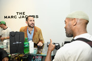 Marc Jacobs (L) speaks with Andre Walker during THE Marc Jacobs SoHo Block Party at The Marc Jacobs SoHo Store on June 12, 2019 in New York City.