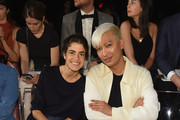 Leandra Medine and BryanBoy attend the Marc Jacobs Spring 2019 Runway Front Row during New York Fashion Week: The Shows  at Park Avenue Armory on September 12, 2018 in New York City.