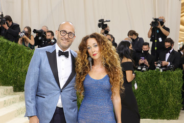 Marc Metrick Alejandra Alonso Rojas The 2021 Met Gala Celebrating In America: A Lexicon Of Fashion - Arrivals
