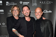 Martin Krug, Marcel Ostertag and Peyman Amin during the 'Marcel Ostertag Charity Fashion Show 2015' at Sofitel Munich Bayerpost on November 11, 2015 in Munich, Germany.