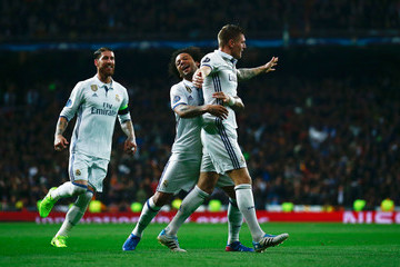 Marcelo Real Madrid CF v SSC Napoli - UEFA Champions League Round of 16: First Leg
