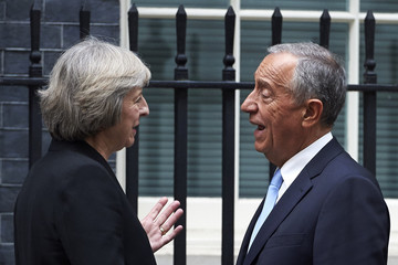Marcelo Rebelo de Sousa Theresa May Meets Portugese President Marcelo Rebelo de Sousa