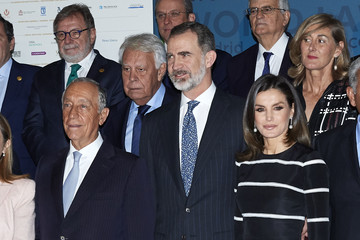 Marcelo Rebelo de Sousa Spanish Royals Attend Closure Of 'World Law Congress' In Madrid
