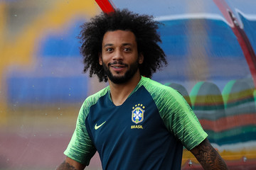 Marcelo Brazil Press Conference and Training Session - 2018 FIFA World Cup Russia
