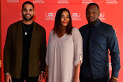 """(L-R) Actor Dijon Talton, Co-writer Samantha Tanner and Director Qasim Bashir appear at the screening for """"A Boy. A Girl. A Dream"""" at the March On Washington Film Festival on July 13, 2018 in Washington, DC."""