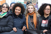 Emeli Sande and Natalie Dormer during the #March4Women 2020 rally at Southbank Centre on March 08, 2020 in London, England. The event is to mark International Women's Day.