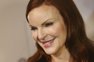 Marcia Cross Backstage at Marc Cain