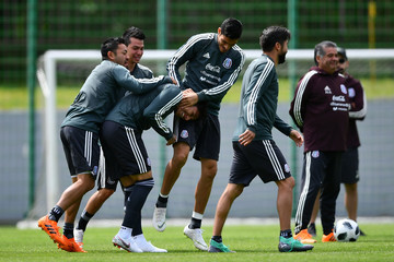 Marco Fabian Raul Jimenez Mexico Training Session