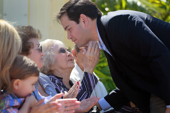 Oria Rubio Marco Rubio speaks with his mother, Oria Rubio, before signing election documents officially qualifying him as a Republican candidate for the U.S. Senate on April 27, 2010 in Miami, Florida. Rubio would become the Republican candidate to beat if his current challenger, Florida Governor Charlie Crist, switches parties to become an Independent candidate.