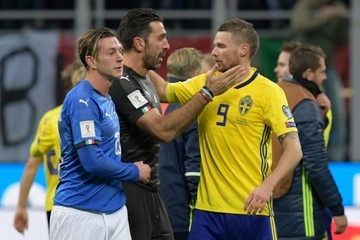 Marcus Berg Italy v Sweden - FIFA 2018 World Cup Qualifier Play-Off: Second Leg