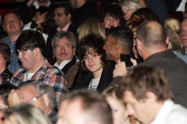 George Michael Performs At Royal Albert Hall In London [audience,crowd,people,event,fun,george michael performs,frankie cocozza,george michaels,craig coulton,marcus collins,royal albert hall,london,uk,tabloid newspapers,concert]