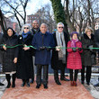 Margaret Chin Disney+ And NYC Department Of Parks Install Plaque That Honors Bronze Statue Of The Husky Named Togo In Seward Park