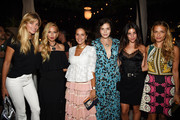(L-R) Jessica Hart, Rachel Zoe, Margherita Missoni, Teresa Maccapani Missoni, Julia Restoin Roitfeld, and Charlotte Ronson attend the debut of Margherita Missoni and Peroni Nastro Azzurro's Fall fashion collaboration during New York Fashion Week on September 8, 2015 in New York City.