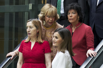 Maria Isabel Celaa Queen Letizia Attends An Event Organized By  'Mujeres Por Africa' Foundation