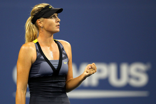 Maria Sharapova Maria Sharapova of Russia returns reacts after a point against  Anastasiya Yakimova of Belarus during Day Three of the 2011 US Open at the USTA Billie Jean King National Tennis Center on August 31, 2011 in the Flushing neighborhood of the Queens borough of New York City.