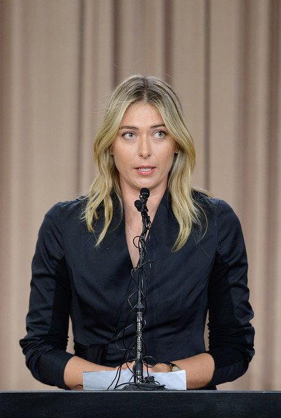 MARIA SHARAPOVA Maria+Sharapova+Maria+Sharapova+News+Conference+gXg26o4WOs2l