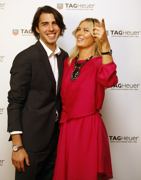 Maria Sharapova and Sasha Vujacic - TAG Heuer Formula 1 Lady Steel And Ceramic Pavee Watch Launch
