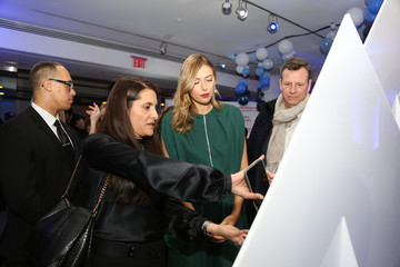 Maria Sharapova Evian & Virgil Abloh Celebrate 2nd Collaboration During New York Fashion Week