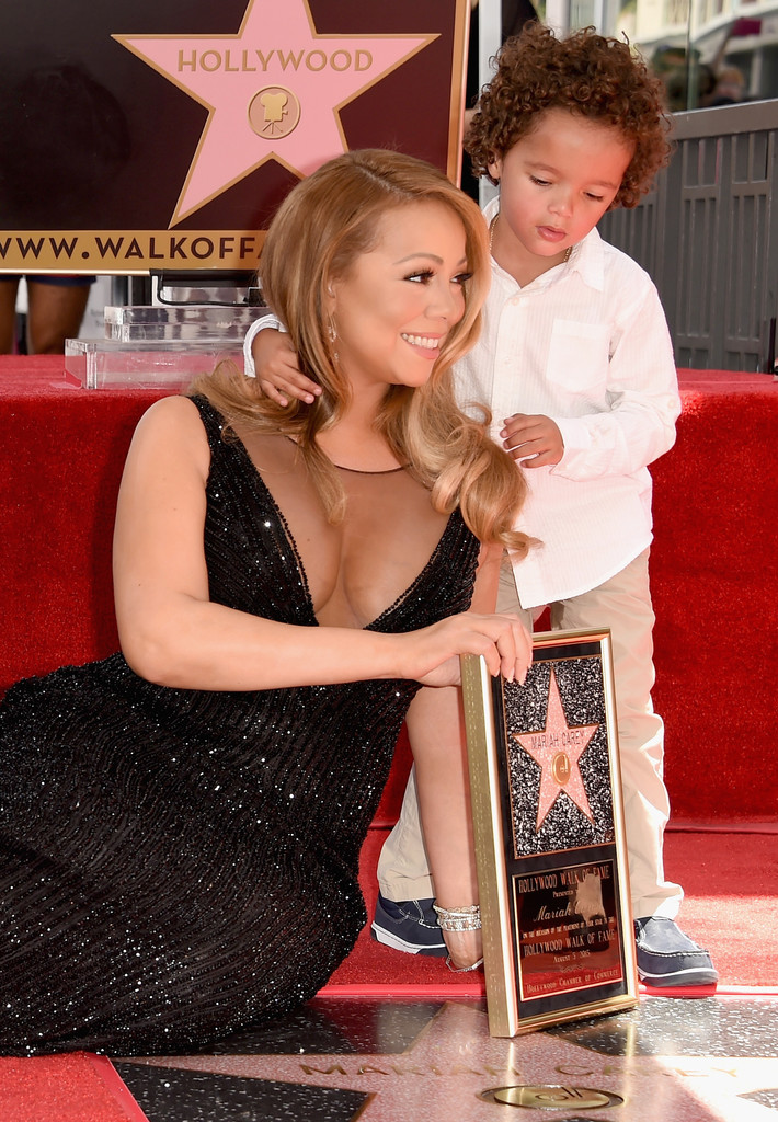 Mariah Carey's Son Moroccan Totally Stole the Show During Her Walk of Fame Ceremony