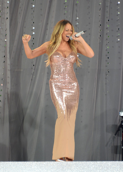 Singer Mariah Carey performs on ABC's 'Good Morning America' at Rumsey Playfield on May 24, 2013 in New York City.