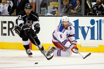 Marian Gaborik Dan Girardi 2014 NHL Stanley Cup Final - Game Two
