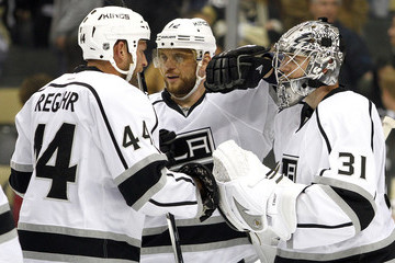 Marian Gaborik Martin Jones Los Angeles Kings v Pittsburgh Penguins