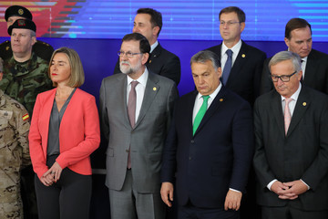 Mariano Rajoy European Council Leaders Meet in Brussels