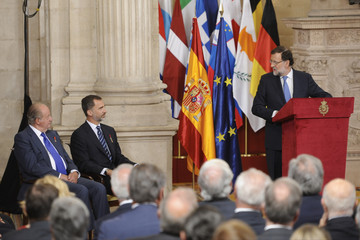 Mariano Rajoy King Juan Carlos I Spanish Royals Attend the 30th Anniversary of Spain Being Part of European Communities
