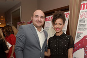"""CEO of Simon G. Zaven Ghanimian (L) and actress Gugu Mbatha-Raw attend the """"Fresh Faces"""" party, hosted by Marie Claire, celebrating the May issue cover stars on April 11, 2016 in Los Angeles, California."""