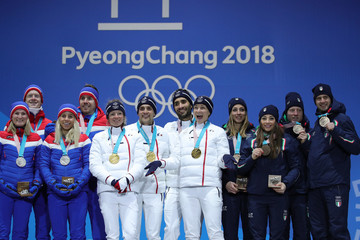 Marie Dorin Habert Medal Ceremony - Winter Olympics Day 12