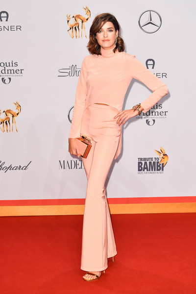 Tribute To Bambi 2016 - Red Carpet Arrivals [red carpet,clothing,carpet,shoulder,dress,flooring,pink,premiere,joint,fashion,marie nasemann,tribute,station,berlin,germany,red carpet arrivals,tribute to bambi]