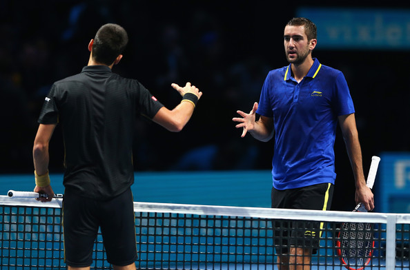 Marin+Cilic+Barclays+ATP+World+Tour+Fina