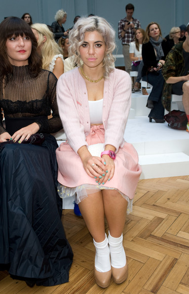 Marina Diamandis - Celebrities On The Front Row at London Fashion Week Spring/Summer 2012