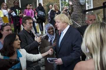 Marina Wheeler Boris Johnson Casts His Vote as the UK Goes to the Polls