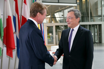 Mario Draghi His Royal Highness Grand Duke Henri of Luxembourg Visits Frankfurt/Main