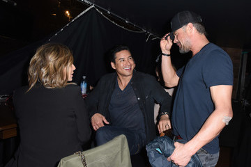 Mario Lopez Courtney Laine Mazza Sandals Resorts Hosts Private Event In The Hyde Lounge inside Staples Center At The Elton John Farewell Concert
