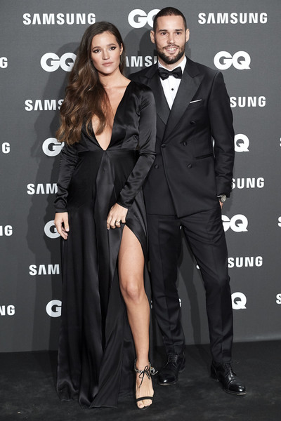GQ Men Of The Year Awards 2018 In Madrid [suit,clothing,formal wear,tuxedo,little black dress,dress,premiere,event,carpet,white-collar worker,gq men of the year awards,malena costa,mario suarez,awards,madrid,spain,palace hotel,gq men of the year]