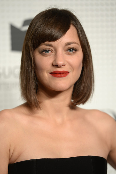 Guggenheim International Gala Pre-Party Made Possible By Dior [hair,beauty,hairstyle,eyebrow,human hair color,chin,shoulder,layered hair,bangs,long hair,new york city,guggenheim international gala pre-party,dior,marion cotillard]
