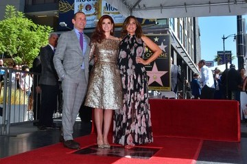 Mariska Hargitay Debra Messing Debra Messing Honored with a Star on the Hollywood Walk of Fame