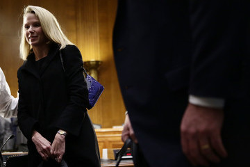 Marissa Mayer Former Yahoo CEO Marissa Meyer and Interim CEO ofOf Equifax Paulino Barros Testify to Senate Committee on Data Breaches