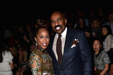 Marjorie Harvey Front Row at Valentino