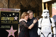 Mark Hamill and Marilou York attend the ceremony honoring Mark Hamill with A Star on The Hollywood Walk of Fame held in front of El Capitan Theatre on March 8, 2018 in Hollywood, California.