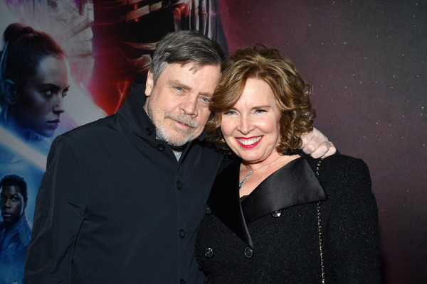 "World Premiere Of ""Star Wars: The Rise of Skywalker"" [world premiere of ``star wars: the rise of skywalker,saga,event,fun,photography,smile,performance,night,party,marilou york,mark hamill,skywalker,star wars: the rise of skywalker,l-r,california,hollywood]"