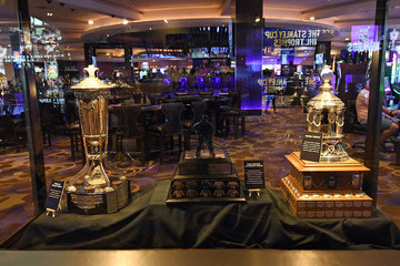 Mark Messier NHL Trophies Displayed At The Hard Rock Hotel & Casino Ahead Of The 2018 NHL Awards
